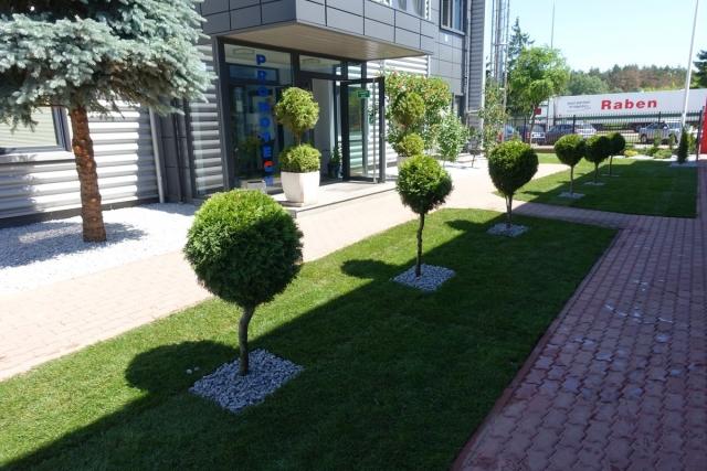 Zieleń i dekoracje ogrodowe przy firmie